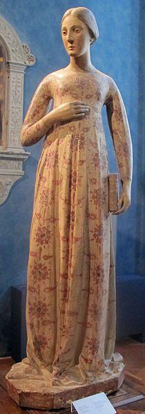 Firenze Museo Bardini - Pollaiolo room - Scuola senese, Vergine Annunciata, 1410 ca. #TuscanyAgriturismoGiratola