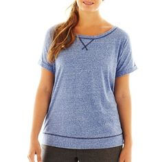 Great for the Gym!!!  Xersion™ Lightweight Short-Sleeve Sweatshirt - Plus - jcpenney