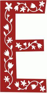 Silhouette Design Store - View Design #69714: scandinavian folk decorative monogram e