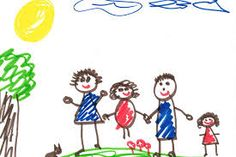 What Kids' Drawings Reveal About Their Homes -- Science of Us Drawing Pictures For Kids, Drawing Games For Kids, Drawing Videos For Kids, Art Drawings For Kids, Pictures To Draw, Art For Kids, Art Couple, Easy Animal Drawings, Famous Artists Paintings