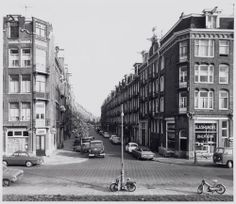 1960. A view of the Madurastraat in the Indische Buurt neighborhood of Amsterdam-Oost seen from the Celebesstraat. Stadsarchief Amsterdam. #amsterdam #1945 #Madurastraat