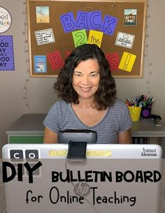 Are you looking for distance learning backdrop ideas? Learn a printing tip to help you DIY your own distance learning backdrop for online teaching. Use a bulletin board file you already own and have your new backdrop décor up in minutes! #thetrappedlibrarian #distancelearningdecor Elementary School Library, Elementary Schools, Reading Motivation, Diy Classroom Decorations, Library Organization, Library Skills, School Librarian, Library Displays, Backdrop Ideas