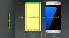 Dimensões Galaxy S8 e comparação com modelo posterior Galaxy 7