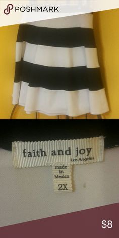 Black and white circle skirt 2X Excellent condition Faith and Joy Skirts Midi