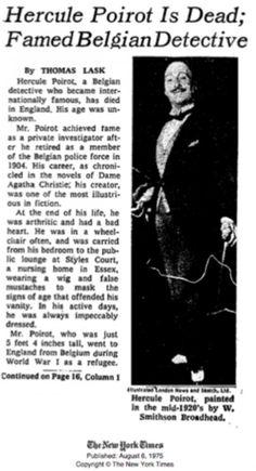 Hercule Poirot Obituary!!
