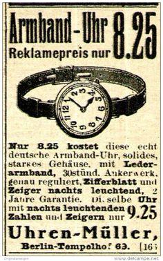 Original-Werbung/ Anzeige 1917 - ARMBAND -UHR / UHREN - MÜLLER - BERLIN…