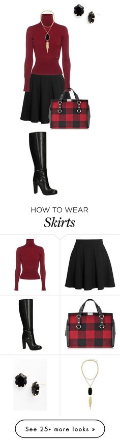 """a-line skirt"" by flsweet82 on Polyvore featuring Miu Miu, Dsquared2, Kendra Scott and GUESS"