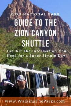 Zion Canyon Shuttle Makes it Easy to Enjoy Zion National Park - Walking The Parks Looking for a guide on how to use the Zion Canyon Shuttle System? Check out this guide for a great trip to Zion National Park! Grand Canyon Vacation, Utah Vacation, Yellowstone Vacation, Vacation Ideas, National Parks Usa, Grand Canyon National Park, New Orleans, New York, Viajes