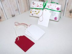 Butterflies In The Attic: 10 #Christmas #Gift Tags - #Upcycled Books - Hand Stamped DieCut - Gift Wrap by @butterflysattic