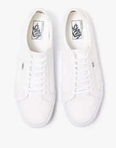 0d96b2a07d Vans   Court + in True White Leather