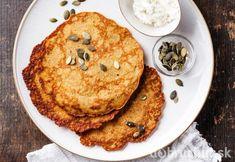 Tekvicové lokše Pumpkin Recipes, Pancakes, Breakfast, Food, Basket, Hokkaido, Morning Coffee, Essen, Pancake