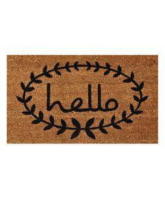 DIY isnpiration-Calico 'Hello' Doormat