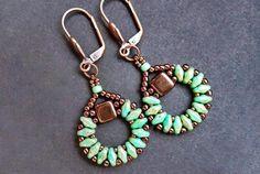 Free pattern for earrings Sanremo
