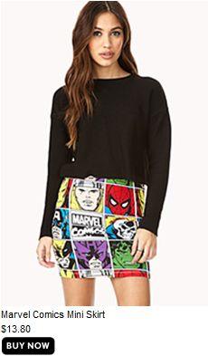 Marvel Comics mini-skirt