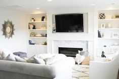A Sophisticated Family Room Makeover - withHEART by Jennifer Stagg Design