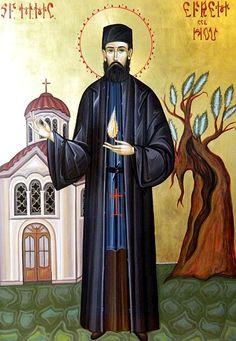 Saint ephraim of nea makri 5 Mai, Byzantine Icons, Orthodox Christianity, Orthodox Icons, I Icon, Sacred Art, Roman Catholic, Religious Art, Saints