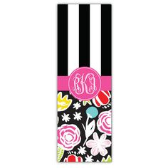 Black Blossomy Mix Personalized Yoga Mat
