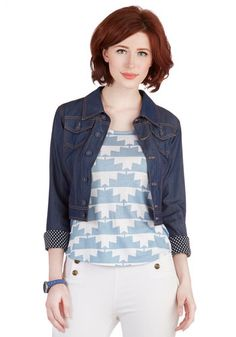 Belle of Bluegrass Jacket. At an afternoon bluegrass show, youre one Americana cutie sporting this cropped denim jacket! #blueNaN