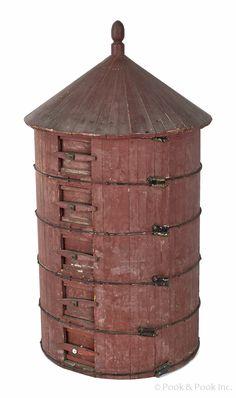 1d73e0e9f69 Realized Price    1007 Painted pine salesman sample of a silo