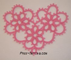 tatted heart pattern free