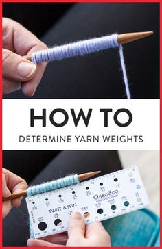 Amazing Knitting: What Weight Is My Yarn? An Easy Way to Figure It Out - häkeln muster ,techniken - Amazing Knitting: What Weight Is My Yarn? An Easy Way to Figure It Out Amazing Knitting: What Weight Is My Yarn? An Easy Way to Figure It Out Knitting Help, Loom Knitting, Knitting Stitches, Knitting Patterns Free, Crochet Patterns, Easy Knitting, Intarsia Knitting, Knitting Basics, Knitting Needles