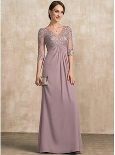 A-Line V-neck Floor-Length Ruffle Zipper Up Sleeves Sleeves No Dusk General Plus Chiffon Lace Mother of the Bride Dress Mother Of The Bride Dresses Long, Mothers Dresses, Mob Dresses, Fashion Dresses, Vestidos Mob, Plus Size Gowns, Bride Groom Dress, Chiffon Evening Dresses, Floor Length Dresses