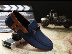 CDJ New Mens Leather Loafers Driving Moccasins slip on loafer Casual Shoes