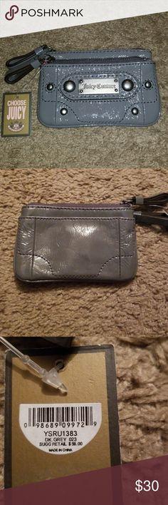 """Juicy Couture Grey Wallet NWT Adorable Grey wallet New 4x3"""" Juicy Couture Bags Wallets"""