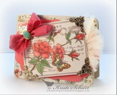 Rose Postcard Background Stamp-JustRite Papercraft February Release