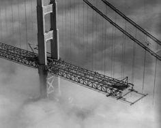 golden gate bridge under construction photos
