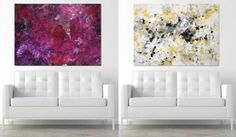 Fun/unique idea for an anniversary. LOVE IS ART kit lets couples create abstract paintings together.