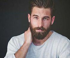 Flat medium beard style