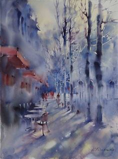 CULTURE N LIFESTYLE — Expressive Cityscape Watercolor Paintings by...