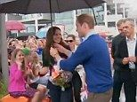 Duchess of Cambridge takes on husband William as the pair join yacht crews in New Zealand | Mail Online