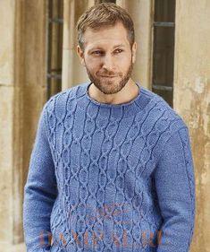 """Мужской свитер «Winchester» выполнен рисунком из комбинации жгутов, который создает впечатление декоративного эффекта готической архитектуры.  Описание свитера от дизайнера Nicki Merrall переведено из журнала """"The Knitter""""."""