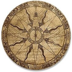 Old Compass Rose - Sun ray alternate points.