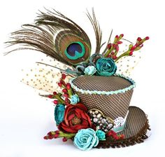 This is a Mad Hatter Hat I created to play along in the Flying UnIcorns Hat challenge. Tons of fun. Mad Hatter Costumes, Mad Hatter Party, Mad Hatter Tea, Mad Hatters, Diy Mad Hatter Hat, Alice In Wonderland Birthday, Alice In Wonderland Tea Party, Steampunk Top Hat, Unicorn Hat