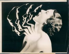 Sell one like this   	  1934 Animated Photograph: Chew Your Way to Beauty. Face/Neck Muscle Exercise Photo.