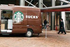Starbucks van fail - Fail Picture