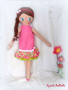 Doll for play - Soft Dolls, Princess Peach, Doll Clothes, Play, Handmade, Character, Art, Art Background, Hand Made