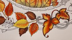 Leaf Coloring, Colouring Pages, Adult Coloring, Coloring Books, Joanna Basford, Autumn Leaf Color, Enchanted Forest Coloring Book, Johanna Basford Coloring Book, Color Blending