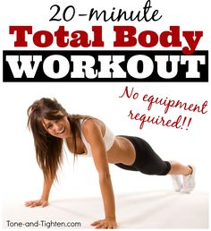 20-minute at-home total-body burner! #workout #fitness from Tone-and-Tighten.com