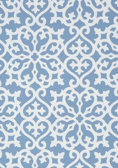 "ALLISON, Blue, T35181, Collection Graphic Resource from Thibaut.  25.25"" repeat."