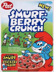 Smurfberry Crunch is fun to eat...A Smurfy, fruity breakfast treat!
