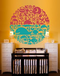 Vinyl Wall Decal Sticker Art - Land and Sea Animals