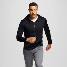 Men's Tech Fleece Full Zip Hoodie Black S - C9 Champion