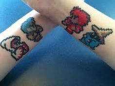 8 Bit Final Fantasy Tattoos by Jigoku Shoujo Gamer Tattoos, Love Tattoos, I Tattoo, Final Fantasy Tattoo, Final Fantasy Artwork, Geeks, Video Game Tattoos, Kunst Tattoos, Art Tattoos