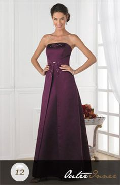 A-Line Strapless Ankle-Length Bridesmaid Dress Style Code: 02844