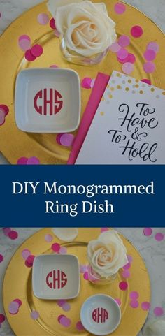 DIY Monogrammed Ring Dish by Happy Family Blog @americangreeting and @walmart  #CelebrateAllSummer #CollectiveBias #ad