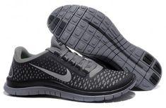 Nike Free 3.0 V4 Mens Grey Silver Black